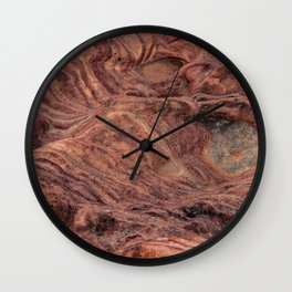 Natural Sandstone Art, Valley of Fire - V Wall Clock