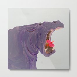 Lippy Hippo Metal Print