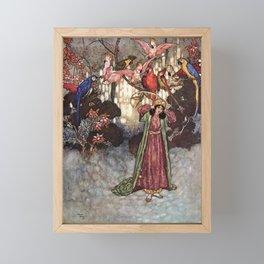 Beauty by Edmund Dulac Framed Mini Art Print