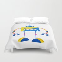 robot Duvet Covers featuring Robot by Marcelo Badari