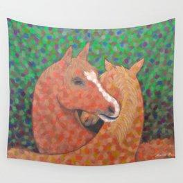 Horse Hug Wall Tapestry