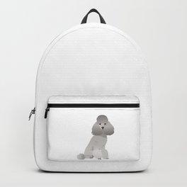 Grey Poodle Dog Backpack