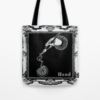 kobe Tote Bags featuring Hand by AKIKO