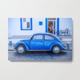 Blue Car in Cyprus Metal Print