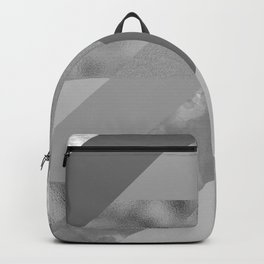 gray pattern Backpack