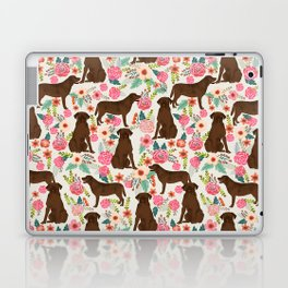 Labrador Retriever florals chocolate lab cute pet gifts must have labrador florals Laptop & iPad Skin