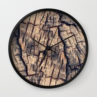 wood Wall Clocks featuring Wood by Crazy Thoom