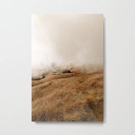 Mount Tamalpais in Fog II Metal Print
