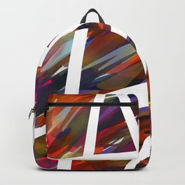 Colorful Chaos - White Stripes Backpack