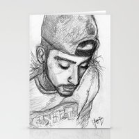 zayn malik Stationery Cards featuring Zayn Malik by TheArtofJas