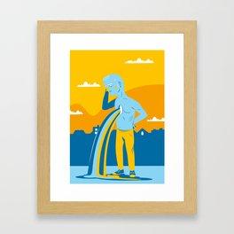NOW IT'S GONE Framed Art Print