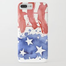 American Flag Watercolor Abstract Stars and Stripes iPhone 7 Plus Slim Case