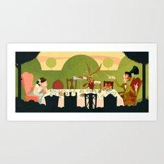 Mad Tea Party Art Print