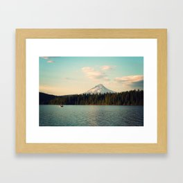 Mt. Hood Mountain and Timothy Lake Framed Art Print