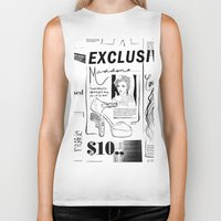 scandal Biker Tanks featuring Material Girl Scandal by CLSNYC