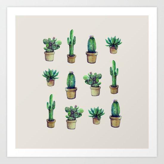 cactus collab franciscomff Art Print