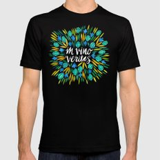 In Wine, There is Truth – Spring Palette MEDIUM Mens Fitted Tee Black