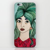 cassandra jean iPhone & iPod Skins featuring Jean by Hanna Tingström