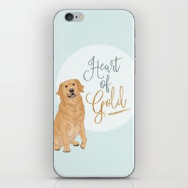 Heart of Gold // Golden Retriever iPhone Skin