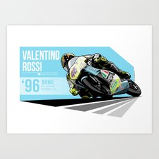 Valentino Rossi - 1996 Brno Art Print