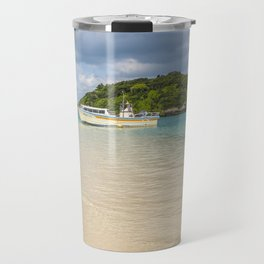 Boat on Kabira Bay Travel Mug