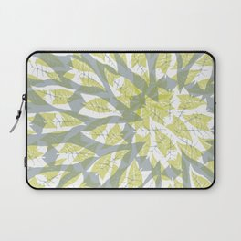 Leaf mandala // tropical leaf circular pattern Laptop Sleeve