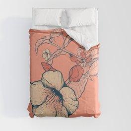 Outline flowers Comforters