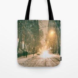 Winter - New York City - Snows Falls - Washington Square Tote Bag