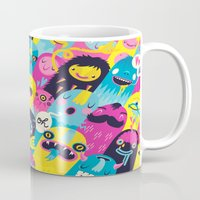 monsters Mugs featuring Monsters by Lienke Raben