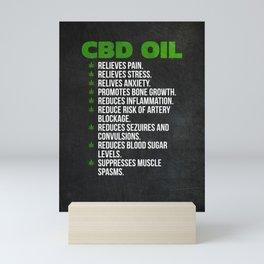 CBD Oil Mini Art Print