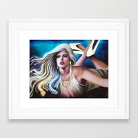 versace Framed Art Prints featuring VERSACE GODDESS by CARLOSGZZ