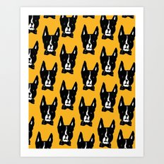 Boston Terriers Art Print