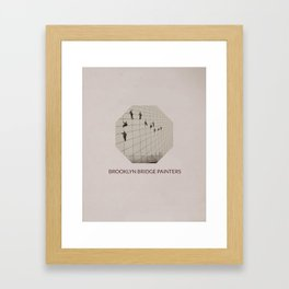 Brooklyn Bridge Painters Framed Art Print