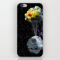 death star iPhone & iPod Skins featuring Death Star by J Styles Designs