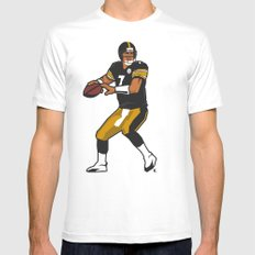 Big Ben - Steelers QB MEDIUM White Mens Fitted Tee