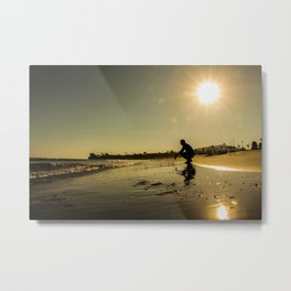 Crouched Sunset Metal Print