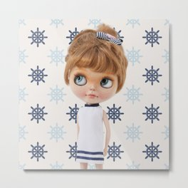 NAVY BLYTHE DOLL CHIO BY ERREGIRO Metal Print