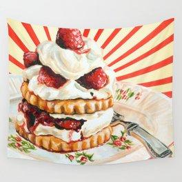 Raspberry Shortcake Wall Tapestry