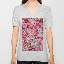 Pink Roses Unisex V-Neck