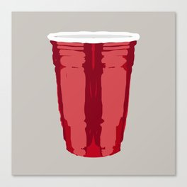 Clarity Cup Red (Big) Canvas Print