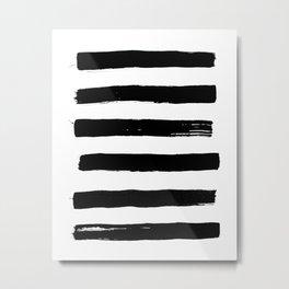 black paint stripes Metal Print