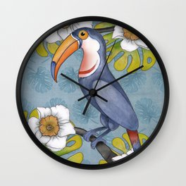 Tropicana-Tucan Wall Clock