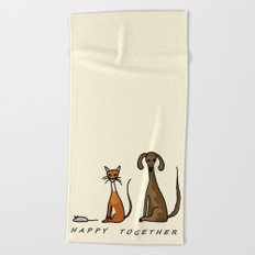 Happy Together - Domestic Beach Towel