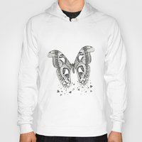 atlas Hoodies featuring Atlas Moth by Anya Raczka