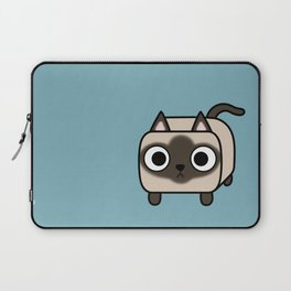 Cat Loaf - Siamese Kitty with Crossed Eyes Laptop Sleeve