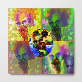"""Warholesque"" by surrealpete Metal Print"