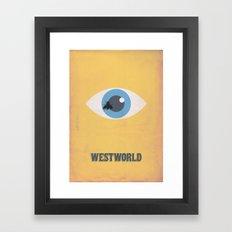 Westworld Alternative Minimalist Art Framed Art Print