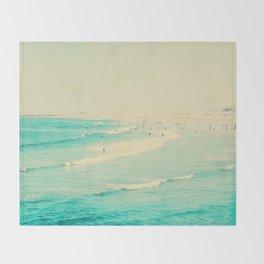 beach sunday II Throw Blanket