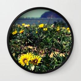 Seaside flowers Wall Clock