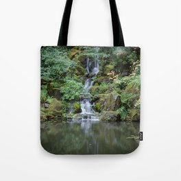 Portland Japanese Garden Waterfall Tote Bag